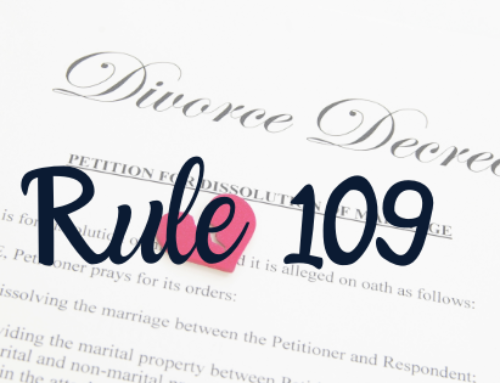 Utah has a new rule in place that protects parties in family law cases: Utah Rules of Civil Procedure, Rule 109