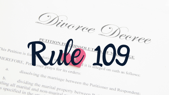 petition for divorce with rule 109