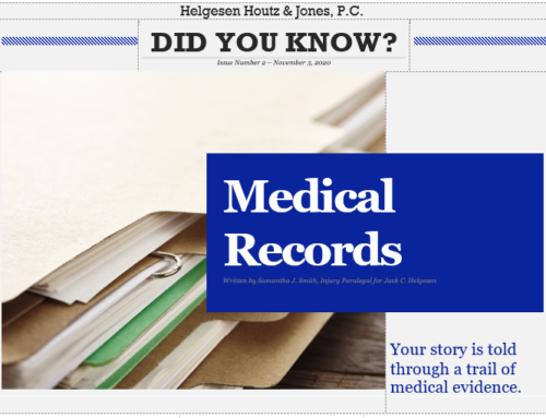 How medical records impact your personal injury claim