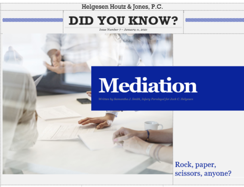 Mediating a personal injury case