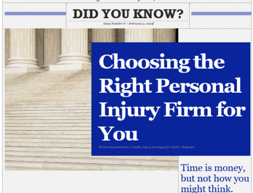 Choosing the right personal injury firm for you